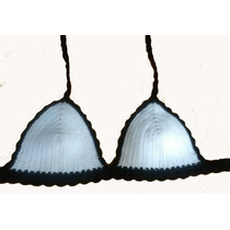 Top Crop Bikini Tejido Artesanal Crochet