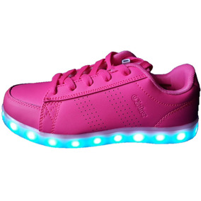 Llego Zapatillas Rosado Con Luces Lus Led Usb Recargables