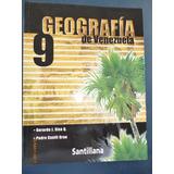 Libro Geografía De Venezuela 9no Editorial Santillana