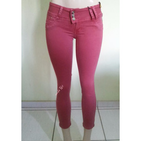Calça Jeans Sarja Sawary Feminina Crooped Capri Muito Linda
