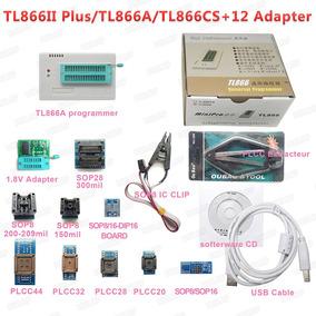 Kit Gravador Tl866cs Minipro Tl866 Eprom Pic Bios Soic Plcc