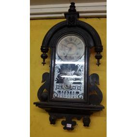 4a8aff36dfb Castelo Antiguidades Parede Relógio Ansonia Antigo