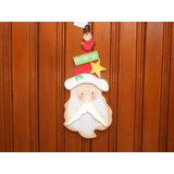 Abaixei: Ornamento De Porta Cabeça De Papai Noel