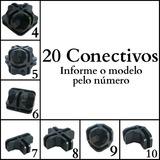 Conectivo Conector Para Balcão De Vidro Ou Aramado 20 Un