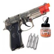 Pistola Aire Comprimido Co2 Bereta 92 Balines Acero Garrafas