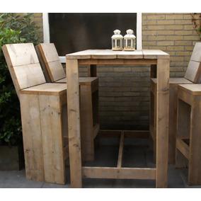 mesa madera maciza barra isla desayunador no pallet