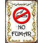 Cartel De Chapa Vintage Retro Fileteado Prohibido Fumar L337