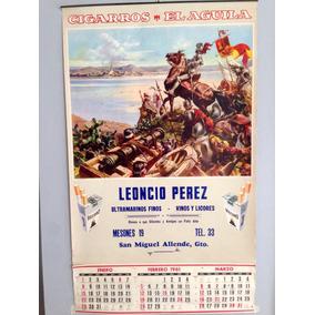 Antiguo Calendario Publicidad De Cigarros El Águila Año 1961
