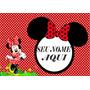 Painel Lona Decorativo Fosco 2 X 1,40 Minnie Vermelha E Rosa