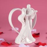 Topo De Bolo De Casamento Em Cerâmica Porcelana Frete Grátis