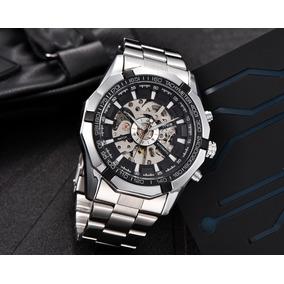 43232fa97a5 Relógio Mecânico Automático Aço Inoxidável Mce 60273. R  198