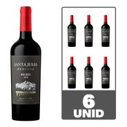 Vino Santa Julia Reserva Malbec 750 Ml Tinto Caja X 6
