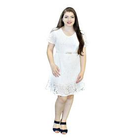 Vestido Moda Evangélico Sino Em Renda Guria Q3006