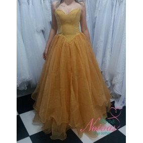 Vestido Debutante Madrinha Dourado Pronta Entrega