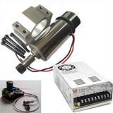 Motor Spindle 300w C/ Suport+ Pwm+ Fonte48v,cnc,router