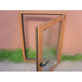 Ventana de pvc simil madera aberturas ventanas en for Mercadolibre argentina ventanas de madera