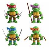 Tortugas Ninjas Set 4 Figuras M36 M39 M37 M38 Jada Diecast