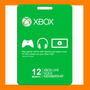 Membresia Microsoft Xbox Live Gold 12 Meses - Xbox One Y 360