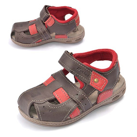 Sandalia Chinelo Papete Infantil Hurkus Couro K9009-74-84
