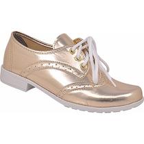 Sapato Sapatenis Feminino Oxford Verniz Chiquiteira Ref 56
