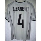 Internazionale De Milan #4 Pupi Zanetti Nike 2001 Impecable