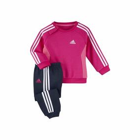 Conjunto I J 3s Jogger Niña Bebe adidas Rosa Azul ( 9 -12)