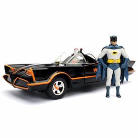 Batmóvel Classic Tv 1966 + Batman E Robin 1:24 Jada Toys