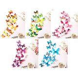 4 Kits - Promoção Borboletas 3d Adesivo Coloridas Total 48
