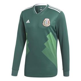 f279a58478ef2 Playera Manga Larga Lycra Futbol Color Primario Verde en Mercado ...