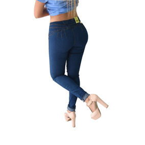Pantalones Colombianos Jeans Dama Mezclilla Push Up Mayoreo