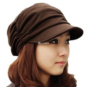 Estilo Coreano Mujeres Plisadas Gorra Sombrero... (coffee)