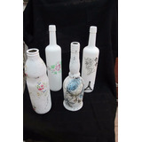 1) Botellas Y Frascos De Vidrio Reciclado*