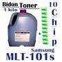 Toner P/ Samsung Mlt-101s Ml 2165w / Bidon 1 Kilo + 10 Chip