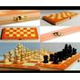 Juego De Ajedrez, Damas Y Backgammon De Madera.