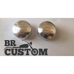 Capa Cromada Eixo Dianteiro Bar E Shield/harley/hd/custom