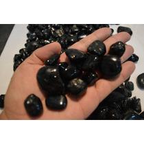 1kg Pedra Turmalina Negra Preta Rolada Polida Top