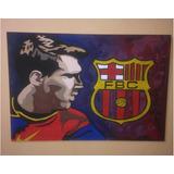 Cuadros Messi Barcelona Hecho A Mano