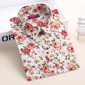 f6e29b037f Camisas Floridas Country - Camisa Casual Manga Longa no Mercado ...