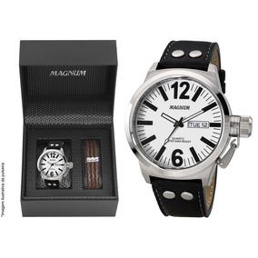 Relógio Magnum Masculino Military Ma31524d + Brinde + Nf