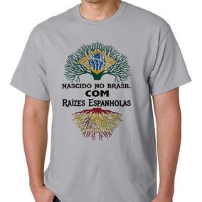 98af851c99 Camiseta Raizes Descendente Espanha Camisa Blusa