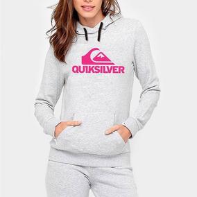 Blusa De Frio Quiksilver - Moletom Prateado no Mercado Livre Brasil 592d70bde0