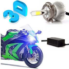 Lampada Led H4 3d Moto 3600 Lumens Alto+baixo A Mais Forte!