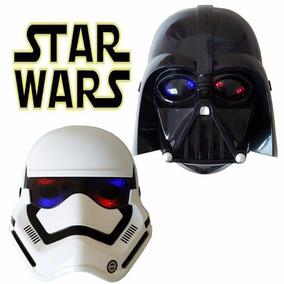 Mascara Star Wars Com Luz Dart Wader E Stormtrooper Cosplay