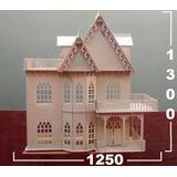 Casita De Muñecas Barbie 9 Amb+25 Muebles Gigante Madera Mdf