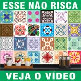 Adesivo Azulejo Imitando Pastilha Ladrilho Português 20x20