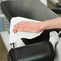 4 Rollos De Toallas Limpiadoras Antibacterial Para Gimnasio