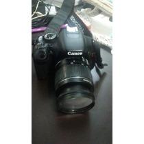 Camara Cannon Eos Rebel T3i Con Lente 18-55mm + Sd