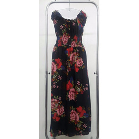 Vestido Longo K Cigana Estampa Floral Verão 2017