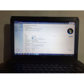 Laptop Sony Vaio Modelo Vpcs120fl Con Windows 7 4gb Ram