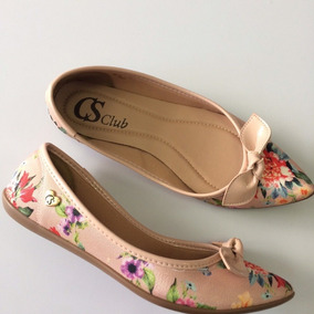 Sapatilha Cs Club By Carmen Steffens Et Floral Gloss C1555